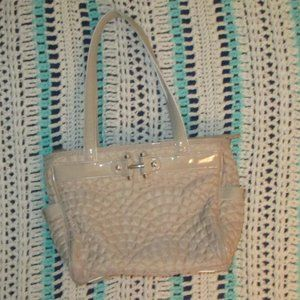 Beige quilted bag